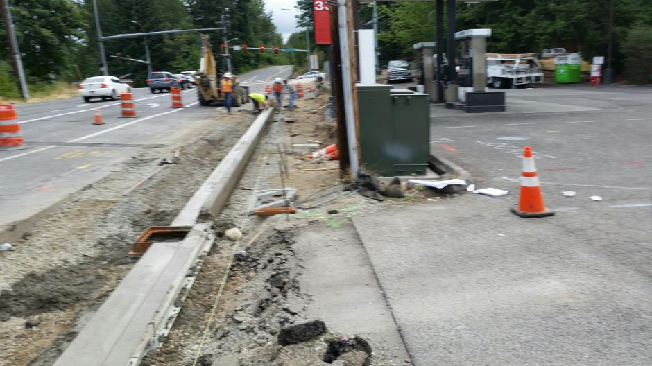 T-28a - Witte Road - Pouring CurbGutter - 071615