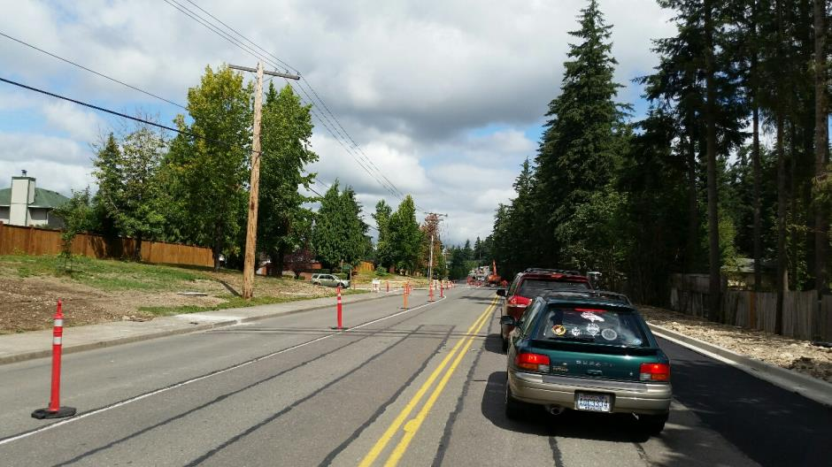 T-38 - 216th Ave SE - New Curb Paving Looking North - 081216