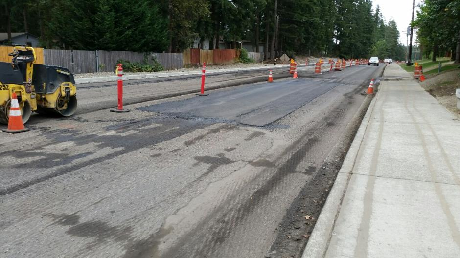 T-38 - 216th Ave SE - After Milling Looking South - 090116