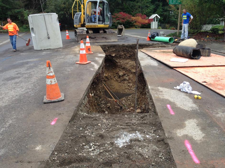 S-12 -- Fernwood - Installation of Manhole Structure