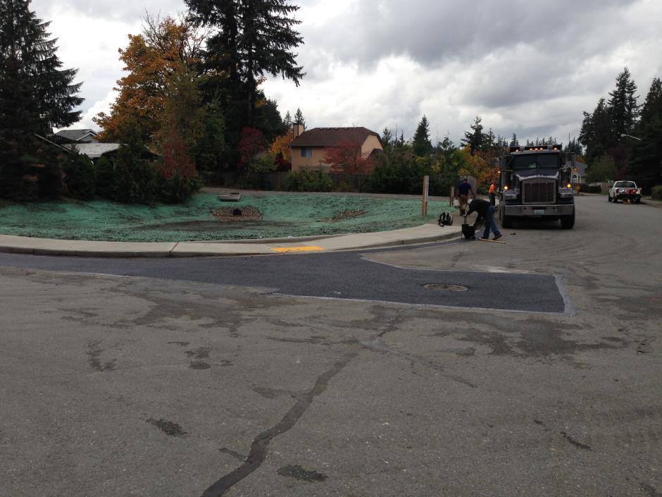 S-12 -- Fernwood - New Sidewalk Ramp Next to Storm Pond