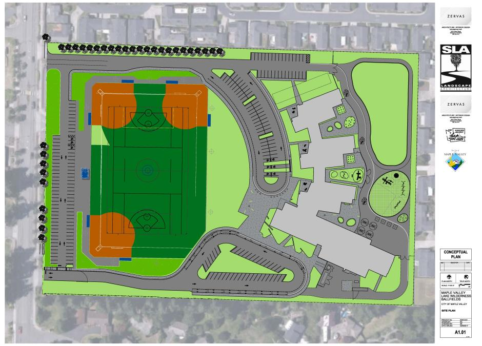 Lake Wilderness Ballfields Conceptual Plan Revised 2 8 17 - Rotated