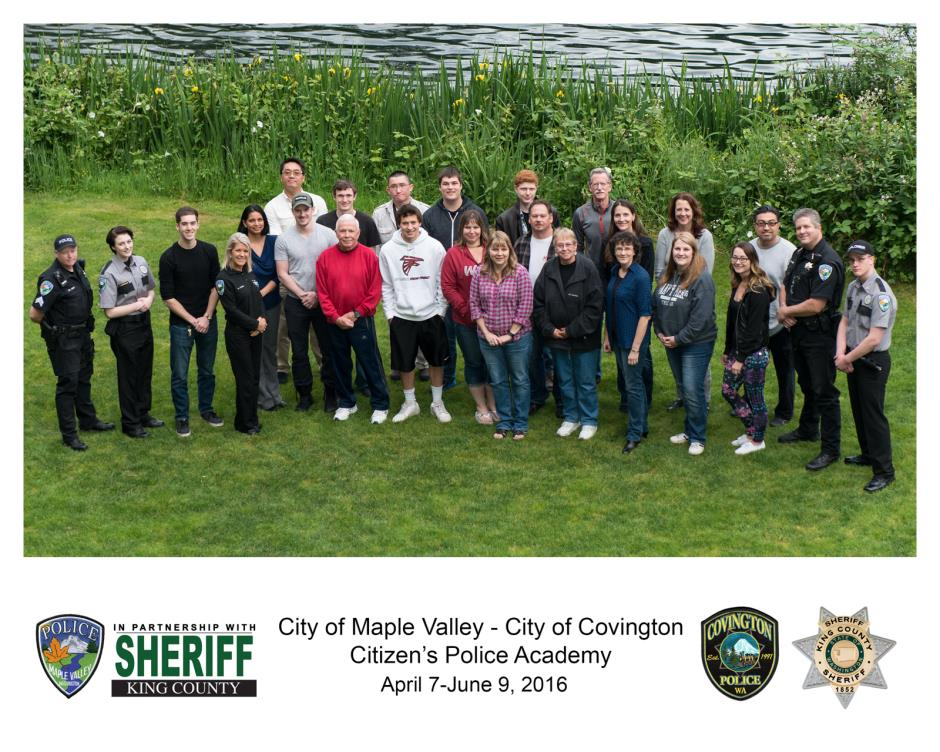2016 Citizen's Academy Group Picture