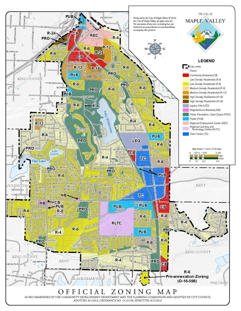 Map gallery maple valley wa official zoning map pdf 85x11 adopted 812016 effective 8152016 ordinance no o 16 598 gumiabroncs Image collections