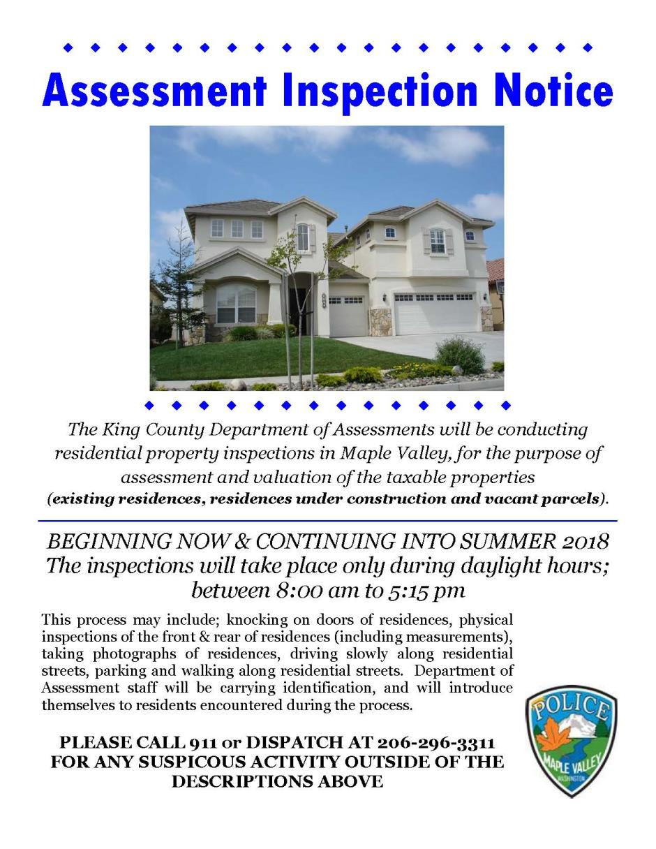 Assessment Inspection Notice - 102517