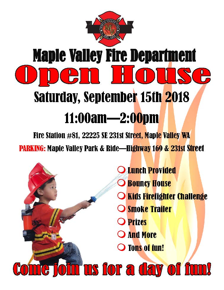 MV Fire Station Open House flyer 2018