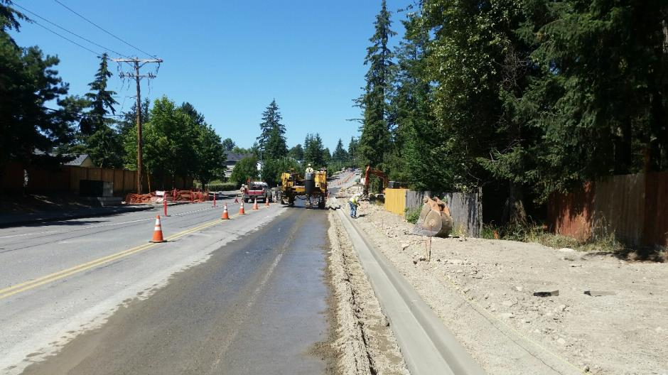 T-38 - 216th Ave SE - New Curb Looking North - 072816