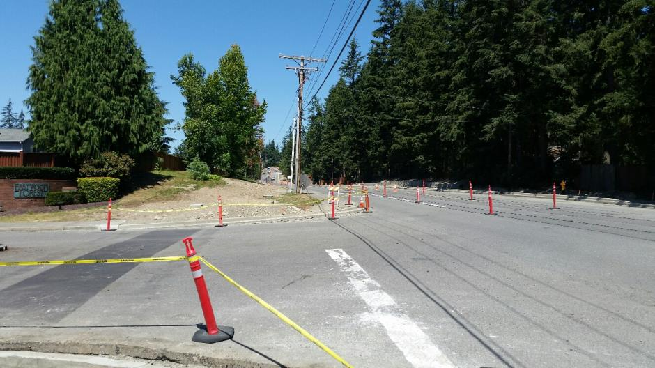 T-38 - 216th Ave SE - Restoration Prep Looking North - 080416