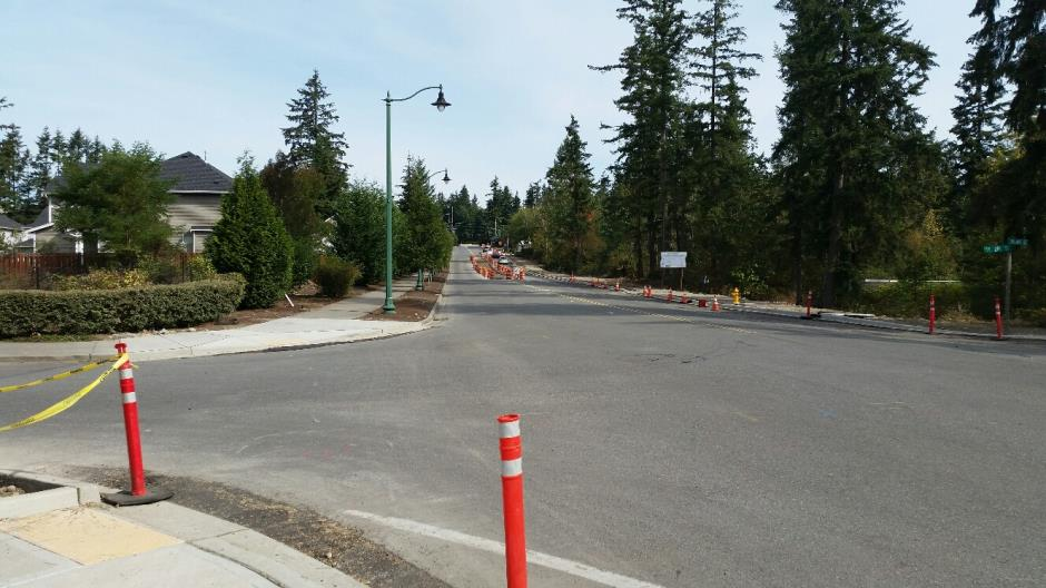 T-38 - 216th Ave SE - New Medians Looking North - 082616