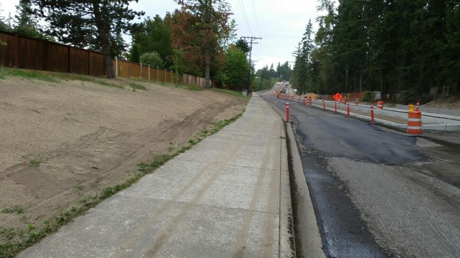 T-38 - 216th Ave SE - After Milling Looking North - 090116