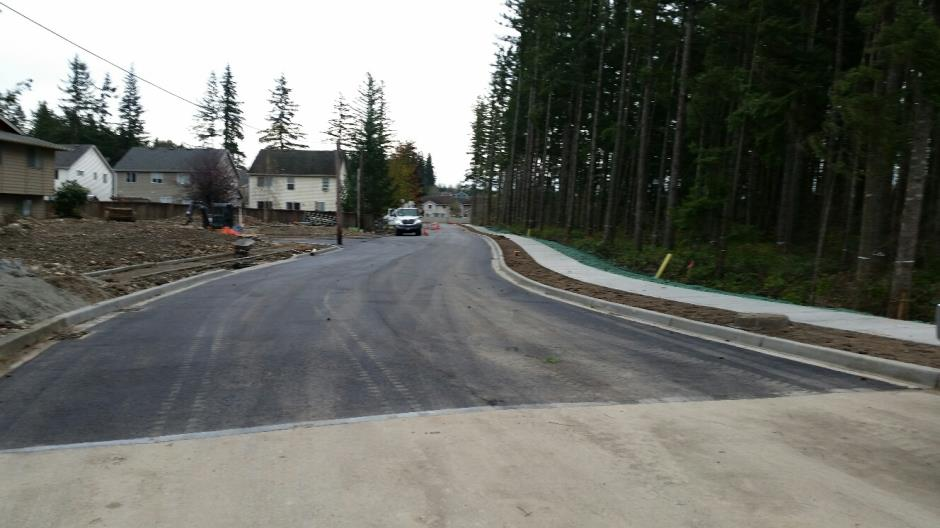 T-33b - 240th Ave SE - Paved Looking South - 111816