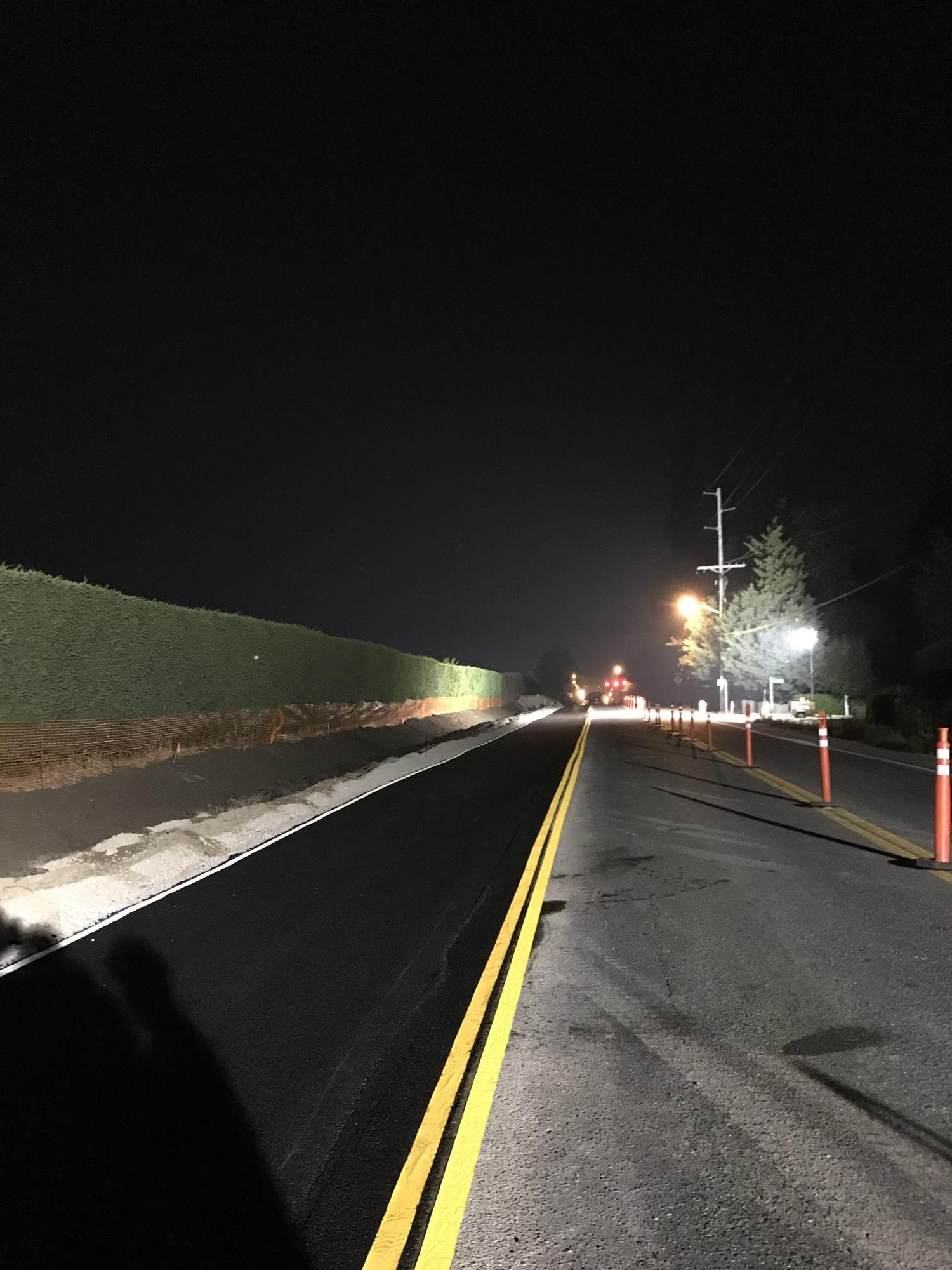 T-42 - Photo - South Side Paving (Night Work) - 082018