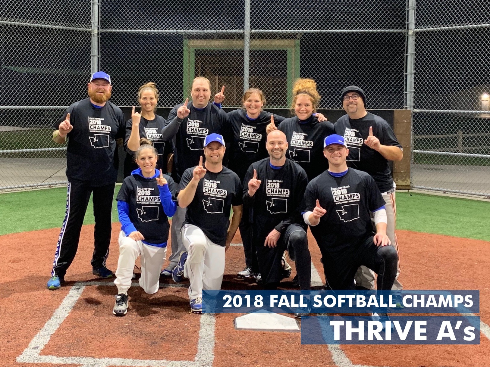 2018 Fall COED Softball Champs 11-2-18